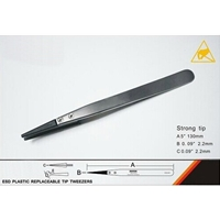 ESD Plastic Replaceable Tip Tweezers