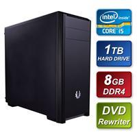 BitFenix Intel i5 7400 3.00GHz Quad Core 8GB DDR4 RAM 1TB Seagate Hard Drive DVDRW with Windows 10 64bit Home Prebuilt System