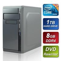 Intel I3-7100 3.90ghz Dual Core 8gb Ram 1tb Hard Drive Dvd-rw Prebuilt System Sbbus-cr-i3781 - Tgt01