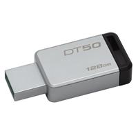Kingston DataTraveler 50 128GB USB 3.0/3.1 Silver and Black USB Flash Drive