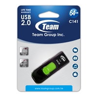 Team C141 64GB USB 2.0 Green USB Flash Drive
