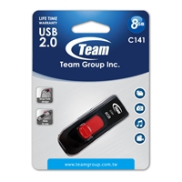 Team C141 8GB USB 2.0 Red USB Flash Drive