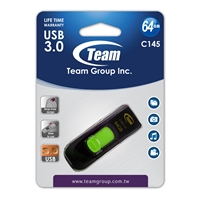Team C145 64GB USB 3.0 Green USB Flash Drive