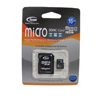 Team 16GB Micro SDHC Class 4 Flash Card with Adapter