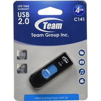 Team C141 4GB USB 2.0 Blue USB Flash Drive