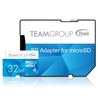 Team Colour 32GB Micro SDHC Class 10 Flash Card with Adapter
