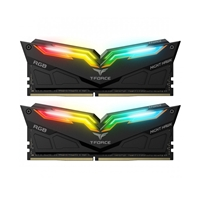Team NIGHT HAWK RGB 16GB Black Heatsink with RGB LEDs (2 x 8GB) DDR4 3000MHz DIMM System Memory