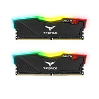 Team DELTA RGB 16GB Black Heatsink with RGB LEDs (2 x 8GB) DDR4 2400MHz DIMM System Memory