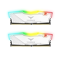 Team DELTA RGB 8GB White Heatsink with RGB LEDs (2 x 4GB) DDR4 2400MHz DIMM System Memory