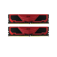 Team ELITE+ 8GB Red Heatsink (2 x 4GB) DDR4 2400MHz DIMM System Memory