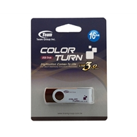 Team Turn 16GB USB 3.0 Flash Drive Brown