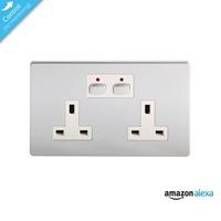 Energenie Home Automation Mi|Home Smart Double Chrome Socket