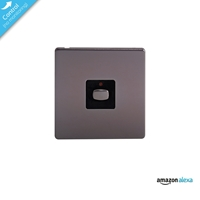 Energenie Home Automation Mi|home Smart Single Nickel Light Switch Miho024 - Tgt01