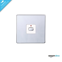 Energenie Home Automation Mi|home Smart Single Chrome Light Switch Miho025 - Tgt01