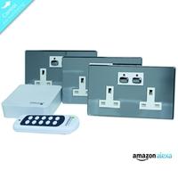 Energenie Home Automation Mi|home Smart Chrome Socket Bundle Miho040 - Tgt01