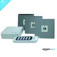 Energenie Home Automation Mi|home Smart Chrome Switch Bundle Miho052 - Tgt01