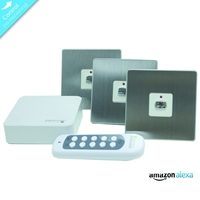 Energenie Home Automation Mi|home Smart Steel Switch Bundle Miho053 - Tgt01