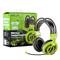E-blue Ehs013gr Cobra Pro Gaming 3.5mm Jack Stereo Headphones - Green Ehs013gr - Tgt01
