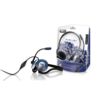 Sweex 3.5mm Acai Berry Blue Neckband Headset