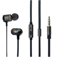 Hipoint EPH-M191 In-Ear 3.5mm Gun Metal Headphones