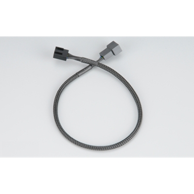 Akasa AK-CBFA01-30 4-Pin Fan PWM (M) to 4-Pin Fan PWM (F) 0.30m Black Retail Packaged Internal Extension Cable