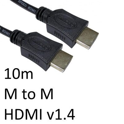 HDMI 1.4 (M) to HDMI 1.4 (M) 10m Black OEM Display Cable