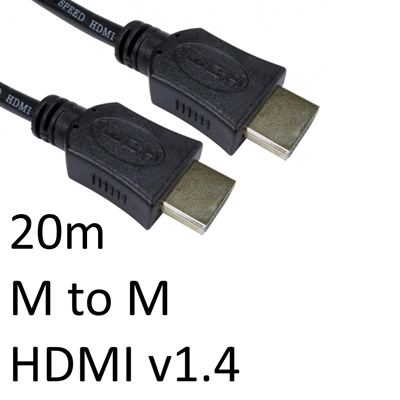 HDMI 1.4 (M) to HDMI 1.4 (M) 20m Black OEM Display Cable