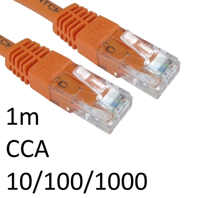 RJ45 (M) to RJ45 (M) 10/100/1000 Network 6 1m Orange OEM Moulded Boot CCA Economy Network Cable