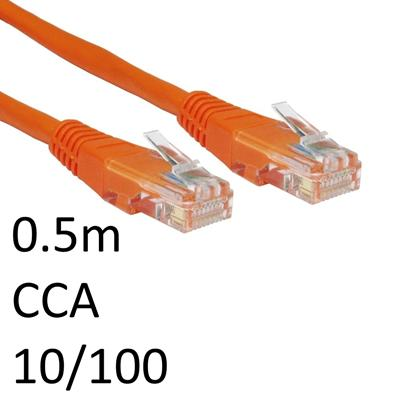 RJ45 (M) to RJ45 (M) 10/100 Network 5e 0.5m Orange OEM Moulded Boot CCA Economy Network Cable