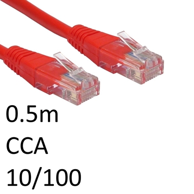 RJ45 (M) to RJ45 (M) 10/100 Network 5e 0.5m Red OEM Moulded Boot CCA Economy Network Cable