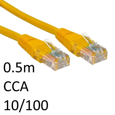RJ45 (M) to RJ45 (M) 10/100 Network 5e 0.5m Yellow OEM Moulded Boot CCA Economy Network Cable