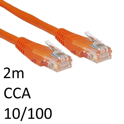 RJ45 (M) to RJ45 (M) 10/100 Network 5e 2m Orange OEM Moulded Boot CCA Economy Network Cable
