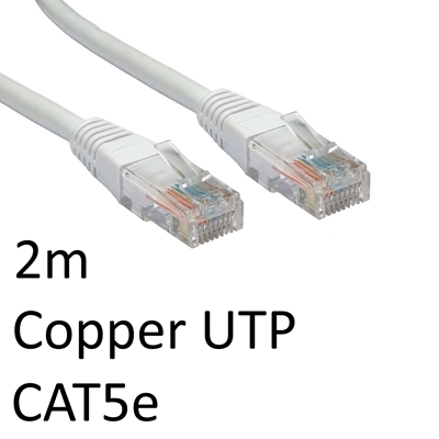 RJ45 (M) to RJ45 (M) CAT5e 2m White OEM Moulded Boot Copper UTP Network Cable