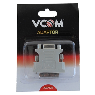 VCOM DVI-I (M) to VGA (F) Grey Retail Packaged Converter Adapter