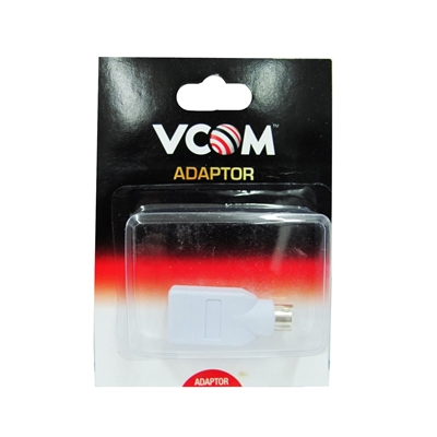 VCOM USB 2.0 A (F) to PS2 (M) White Retail Packaged Converter Adapter