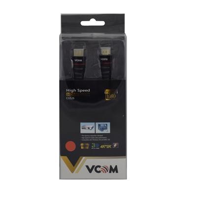 VCOM HDMI 1.4 (M) to HDMI 1.4 (M) 1.8m Black Nylon Braided Retail Packaged Display Cable