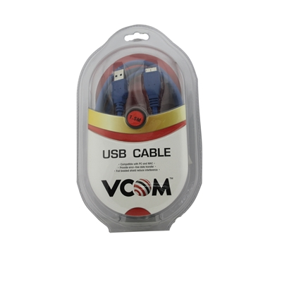 VCOM USB 3.0 A (M) to USB 3.0 Micro B (M) 1.8m Blue Retail Packaged Data Cable