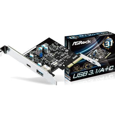 ASRock USB3.1 Dual USB A and USB C PCIe Controller Card