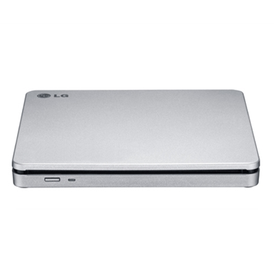 LG GP70NS50 SuperMulti 8x DVD-RW USB 2.0 M-Disc Mac Compatible Silver Slim Portable External Optical Drive with M-Disc