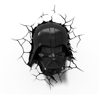 Star Wars 3D Deco Wall Light - Darth Vader Face