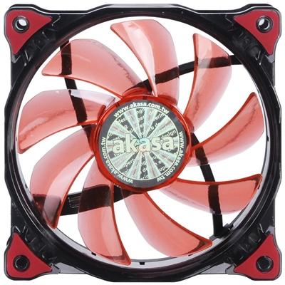 Akasa Vegas 120mm 1200RPM Ultra Quiet Red LED Fan
