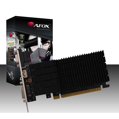 AFOX GeForce GT710 2GB 64bit DDR3 Low Profile Silent PCI-E Graphics Card