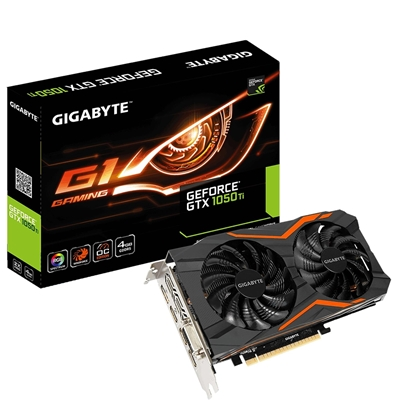 Gigabyte GeForce GTX 1050 Ti G1 Gaming 4GB GDDR5 WINDFORCE 2X Cooling System Graphics Card