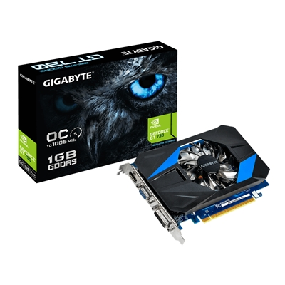 Gigabyte GeForce GT 730 1GB GDDR5 Custom-Designed 80mm Fan Cooling System Graphics Card