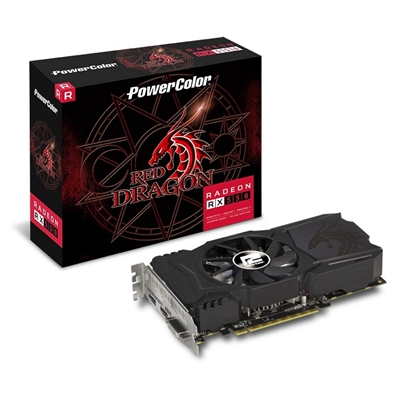 PowerColor Radeon RX 550 Red Dragon 4GB GDDR5 VR Ready Single-Fan Cooling System Graphics Card