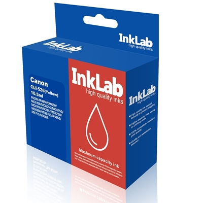 InkLab CLI526 Canon Compatible Yellow Replacement Ink