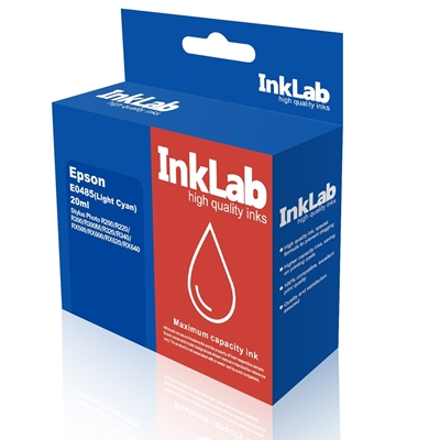 InkLab 485 Epson Compatible Light Cyan Replacement Ink