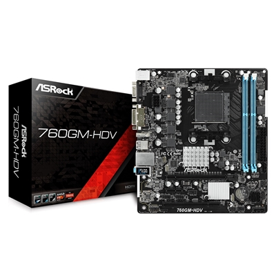 ASRock 760GM-HDV AMD Socket AM3+ Micro ATX VGA/DVI-D/HDMI Motherboard