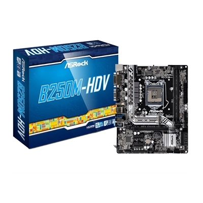 ASRock B250M-HDV Intel Socket 1151 Kaby Lake Micro ATX DDR4 D-Sub