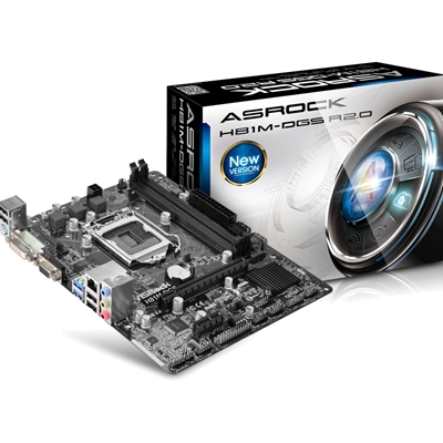 ASRock H81M-DGS R2.0 Intel Socket 1150 Micro ATX VGA/DVI-D USB 3.0 Motherboard